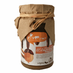 Bottle of Vive 65% Dark Chocolate & Peanut Butter, 180g