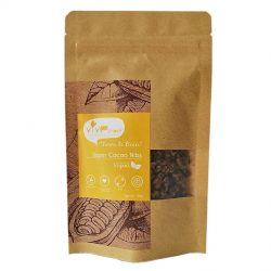 Front view of a packet of Vive Super Cacao Nibs (Molasses Sugar), 100g