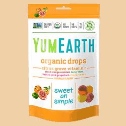 Packet of Yum Earth Organic Vitamin C - Citrus Grove Drops