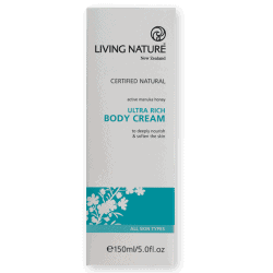Box of Living Nature Organic Ultra Rich Body Cream, 150ml