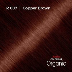 Hair colour preview for Radico Copper Brown Hair Colour Powder (100g)