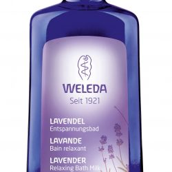 Bottle of Weleda Lavender Relaxing Bath Milk 200ml