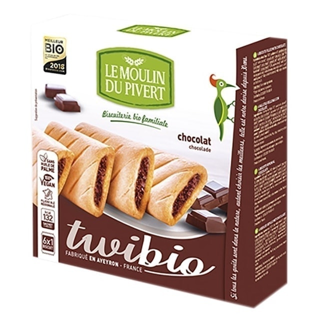 Le Moulin Organic Twibio Biscuits Filled with Chocolate, 150g