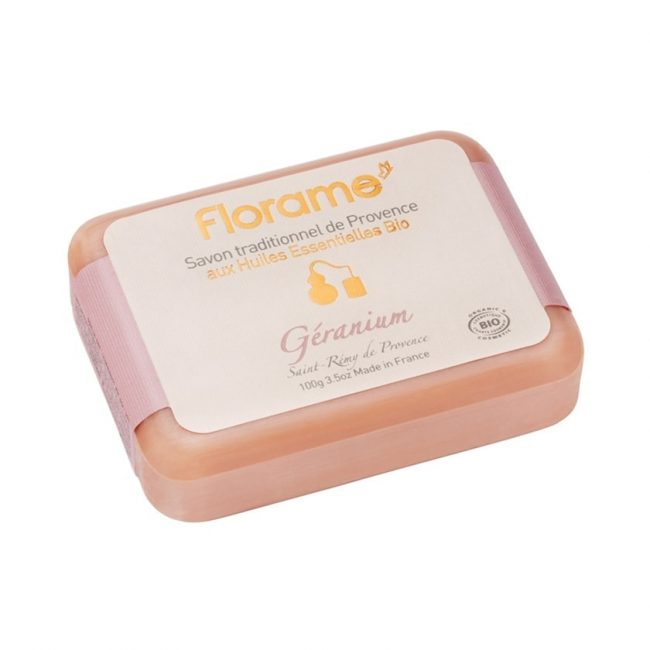 Florame Geranium Traditional Soap, 100g