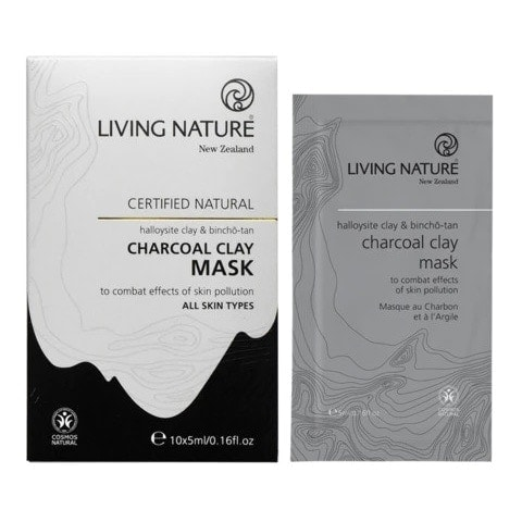 Living Nature Charcoal Clay Mask (10 x 5ml)