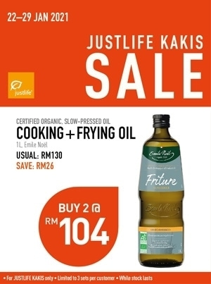Justlife Kakis Sale Emile Noel Cooking and Frying Oil Bundle Promo